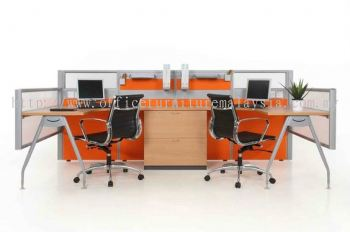 Modern Open Concept Office Workstation System (AIM60-C2-1-L-NO)