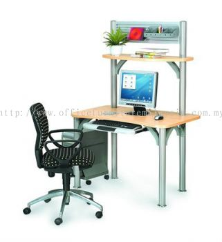 Small Office table with Pole leg 2 (AIM-PCD1-1-FS)