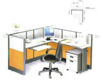 AIM L shape reception counter in Block System