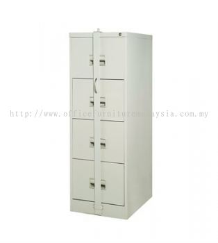 4 Drawer Locking Bar Filing Steel Cabinet (AIM106S)