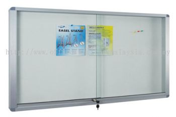 Aluminium Frame Cabinet Notice Board With Soft Board