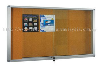Aluminium Frame Cabinet Notice Board With Cork Board