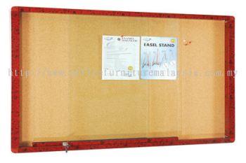 Wooden Frame Cabinet Notice Board