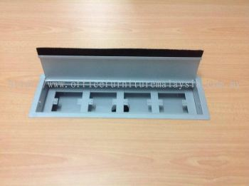 Metal socket box with 4 nos opening