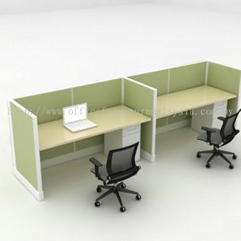 2 cluster of E shape workstation for call centre