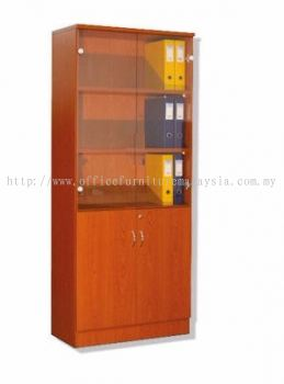 Bookshelf with Glass Door (Full Cherry)