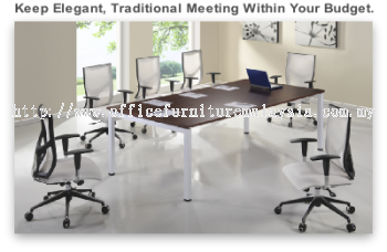 Rectangular conf table white solution
