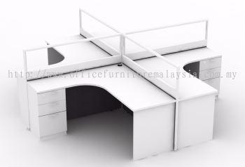 4 pax workstation white colour