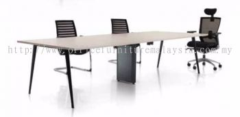 Conference table with Nitra black metal leg