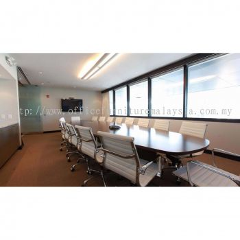 Meeting room design with designer chair