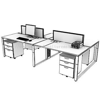 3D workstation with AIM desking panel