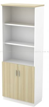 High Open Shelf (3tiers) with Swinging Door Cabinet (AIM21YOD)