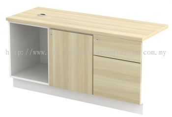 Side Cabinet with Open Shelf + Swinging Door+ Fixed Pedestal (AIM1226E)