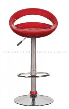 Fibreglass high bar stool with adjustable height AIM820-H
