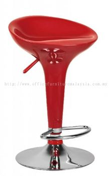 High fibreglass adjustable height bar stool AIM821-H