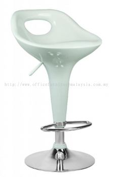 High fibreglass adjustable height bar stool AIM825-H