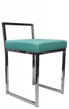 Low bar stool with backrest AIM819-L