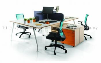 Ixia concept 4 gang modern n simple workstation