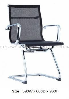 Visitor mesh chair with chrome body frame AIM-LA4V