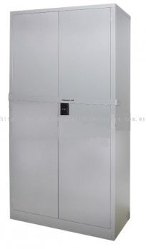 Full height steel cupboard with locking bar