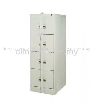 4 drawer steel cabinet with locking bar