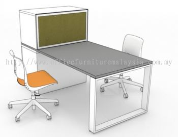 Modern workstation with tall cabinet 3 (3D drawing)