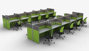 20 pax rectangular workstation call centre