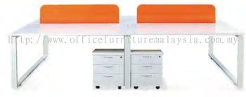 Workstation square leg with acrylic panel