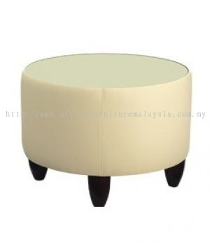 Couch side glass top coffee table AIM 022-ST