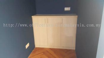 Custom made low swing door cabinet