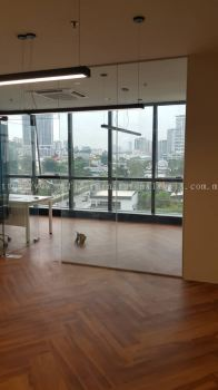 Zigzag vinyl flooring at Kuala Lumpur