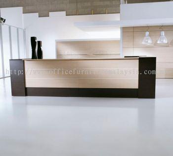 Rectangular large reception counter
