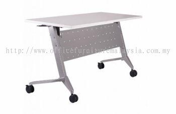 Heavy duty training foldable table with castor A1