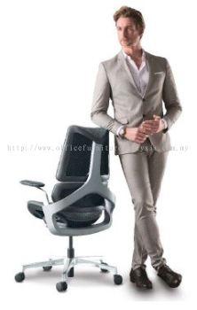 Presidential medium back chair A series AIM1A1MB (Back view)