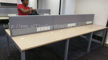 Workstation with U metal leg and wire trunking at Jaya One Petaling Jaya
