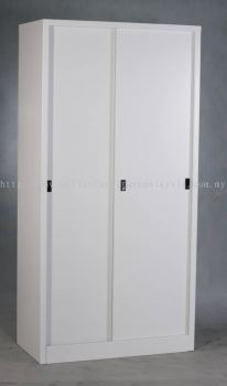 Full height steel cabinet sliding door
