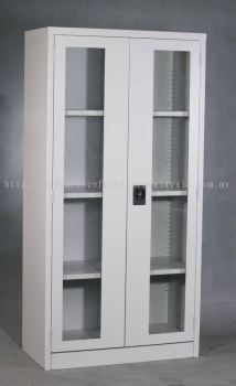 Full height steel cabinet swing glass door