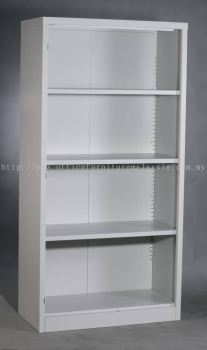 Full height steel open shelf cabinet