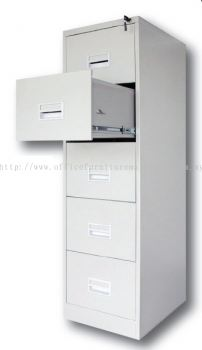 5 drawer steel cabinet with recess handle and ball bearing slide