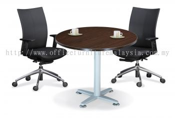 Round discussion table with star leg