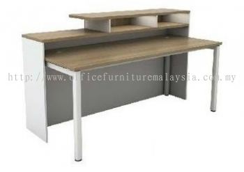 Reception counter with table Aim1800RSL(Back view)
