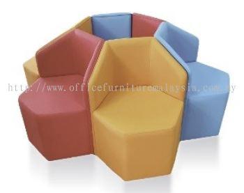 Ottoman Sofa AIM1HB-OTM (Hexagon back rest)
