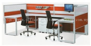 2 cluster workstation with cassia leg AIM DS201L (side view)