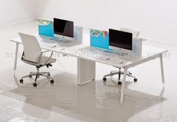 4 cluster rectangular table with Ixia leg