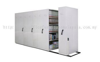 8 Bays handpush mobile compactor with lock