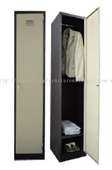 1 compartment steel locker with 1 hanging bar and 1 steel fixed shelf
