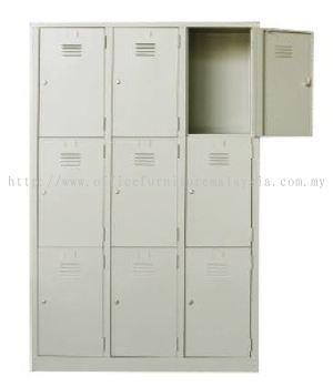 9 compartment steel locker