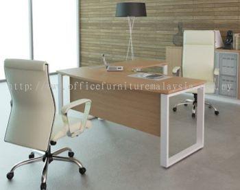 L shape executive table with square leg