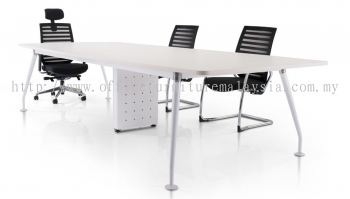 Rectangular conference table with ixia leg and riser box