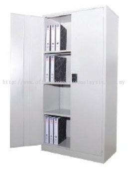 Full height swing door steel cabinet with lock